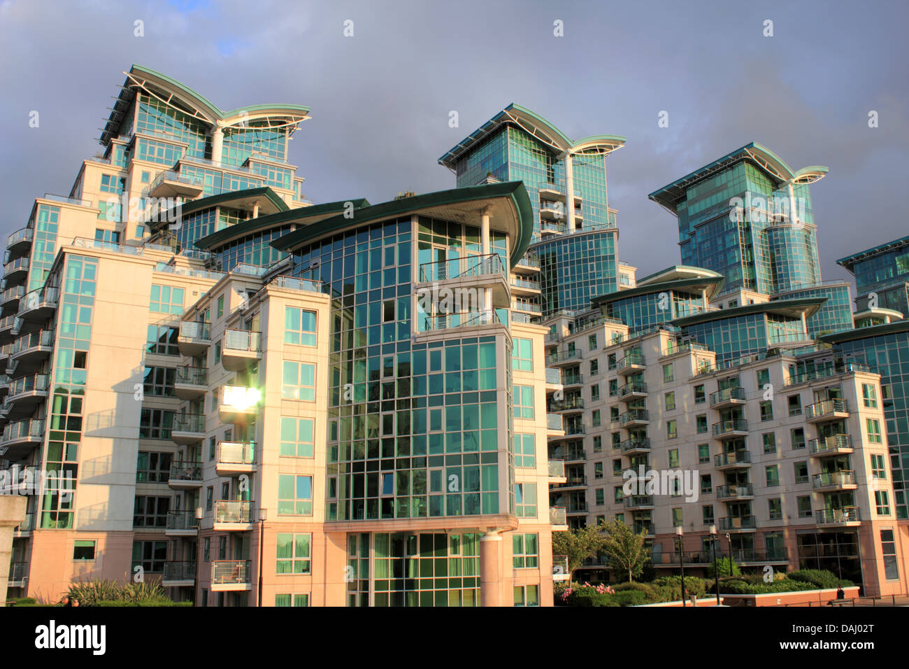 St George Wharf is a riverside development in the London Borough of Lambeth, England, on the River Thames. London - Stock Image