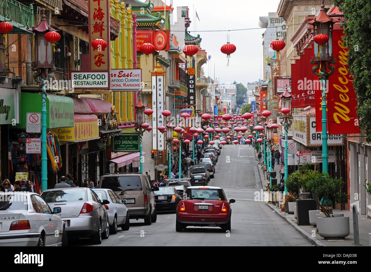 Chinatown in San Francisco, USA - Stock Image