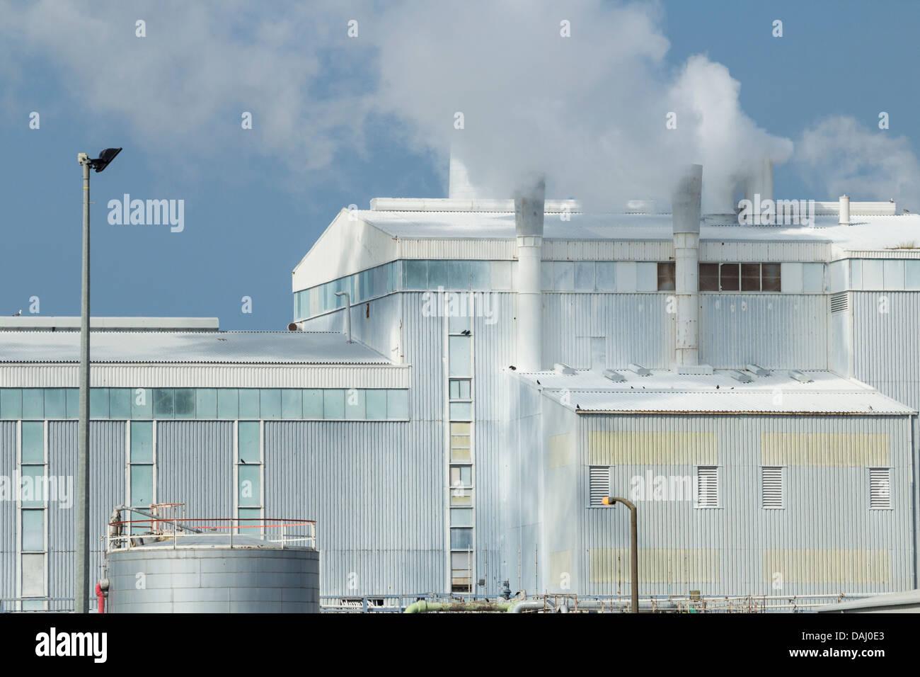 Titanium Dioxide chemical plant near Teesmouth Nature Reserve Stock