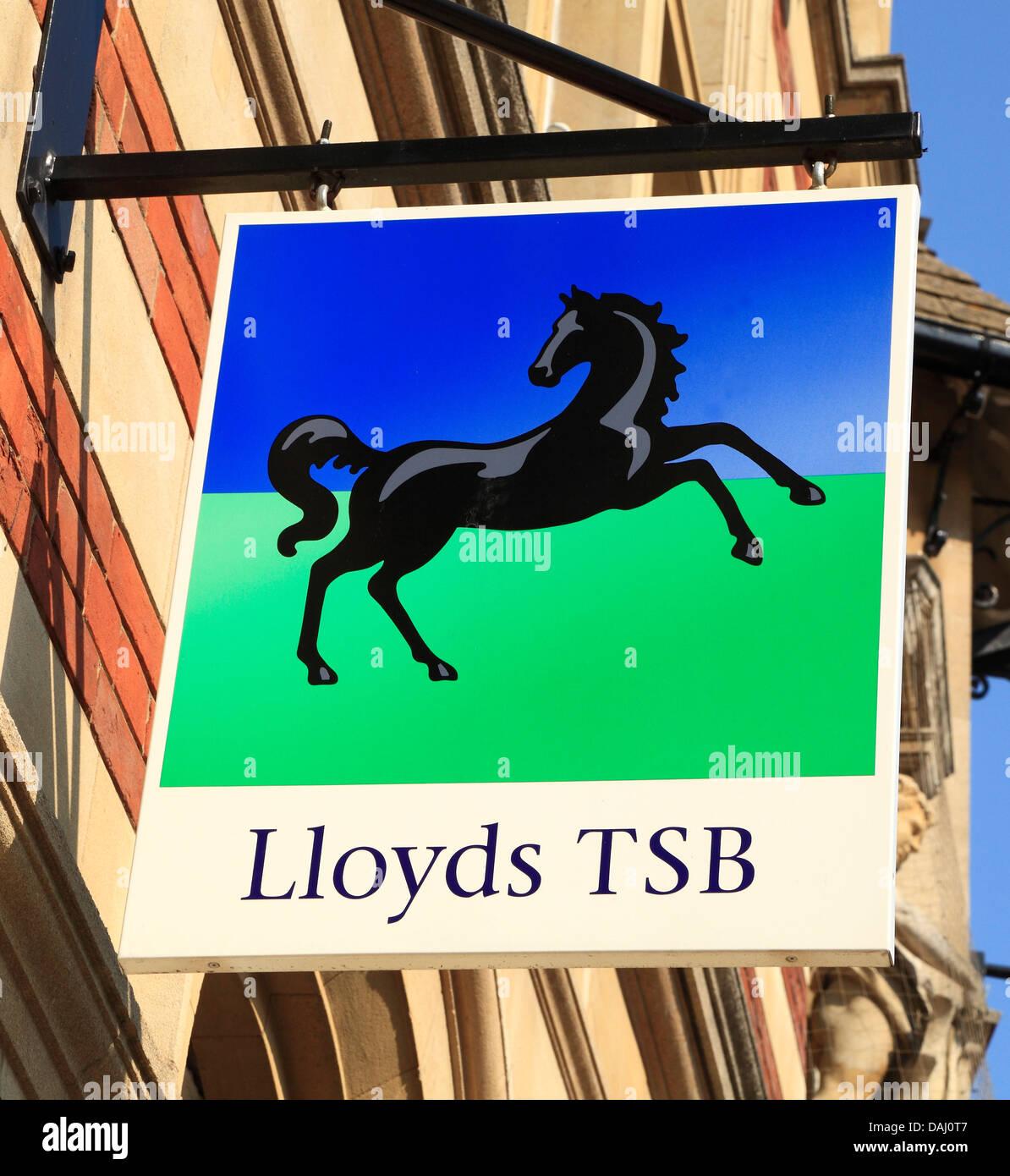 Lloyds TSB bank sign, logo, England UK - Stock Image