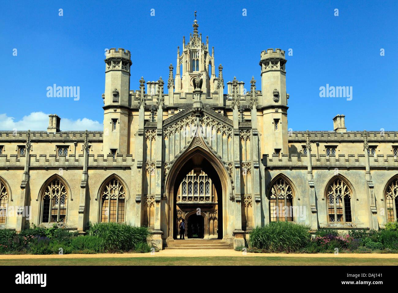 St. Johns College, Cambridge, England UK, English university universities colleges - Stock Image