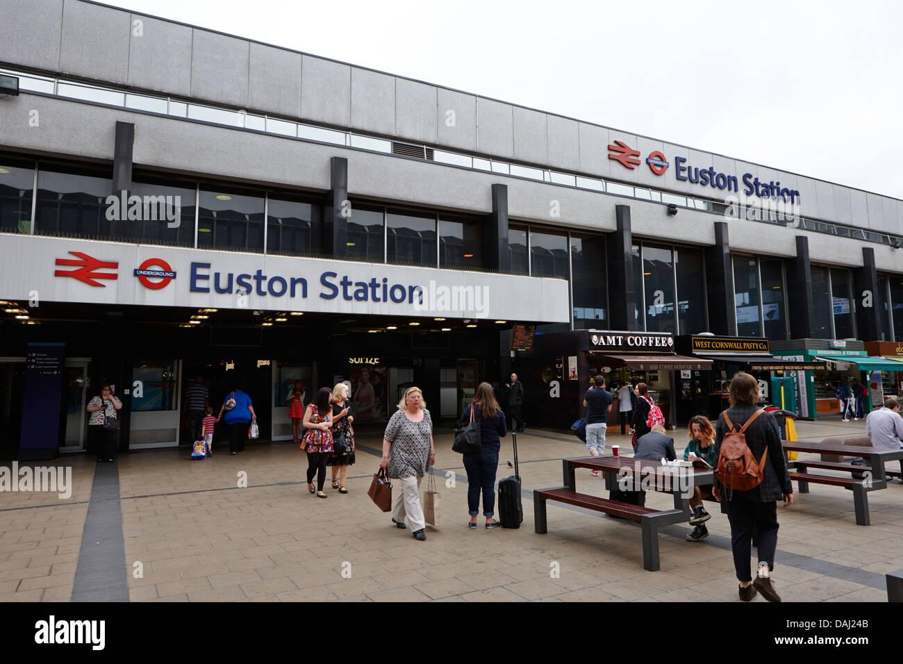 euston overground national rail train station london, england uk - Stock Image
