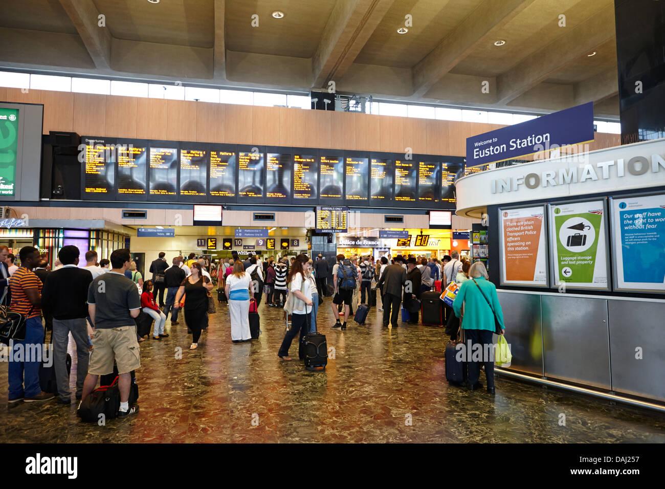 interior of euston overground national rail train station london, england uk - Stock Image