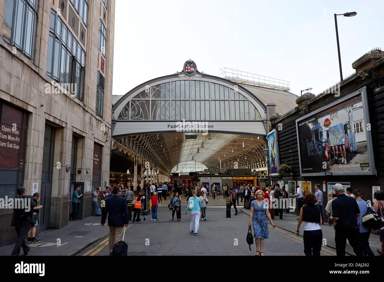 paddington overground national rail train station london, england uk - Stock Image