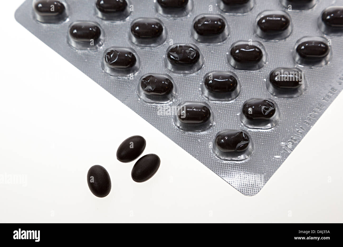 Co enzyme Q10 antioxidant tablets - Stock Image