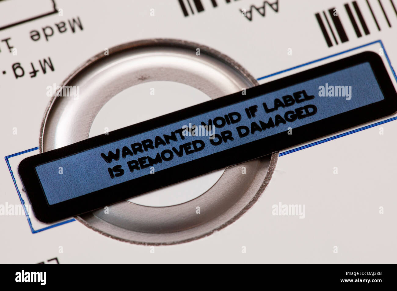 Warranty void label - Stock Image