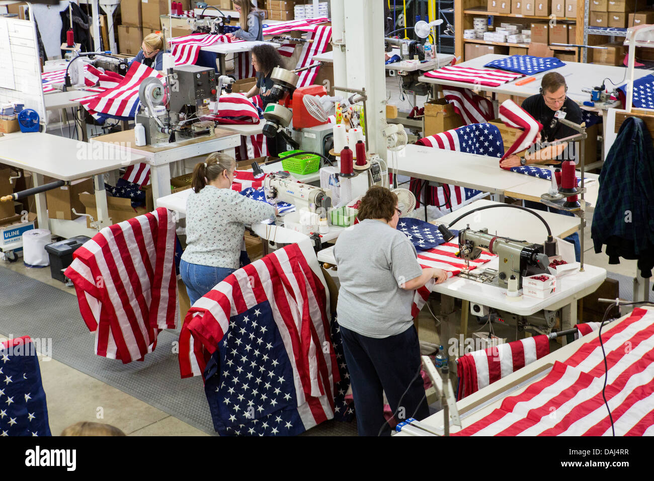 The Annin Flagmakers factory in Coshocton, Ohio.  - Stock Image