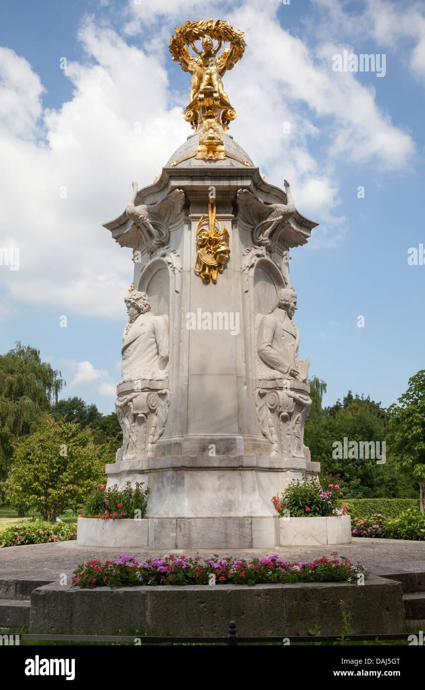 Tiergarten Composer memorial statue - Beethoven Haydn Mozart, Berlin, Germany - Stock Image