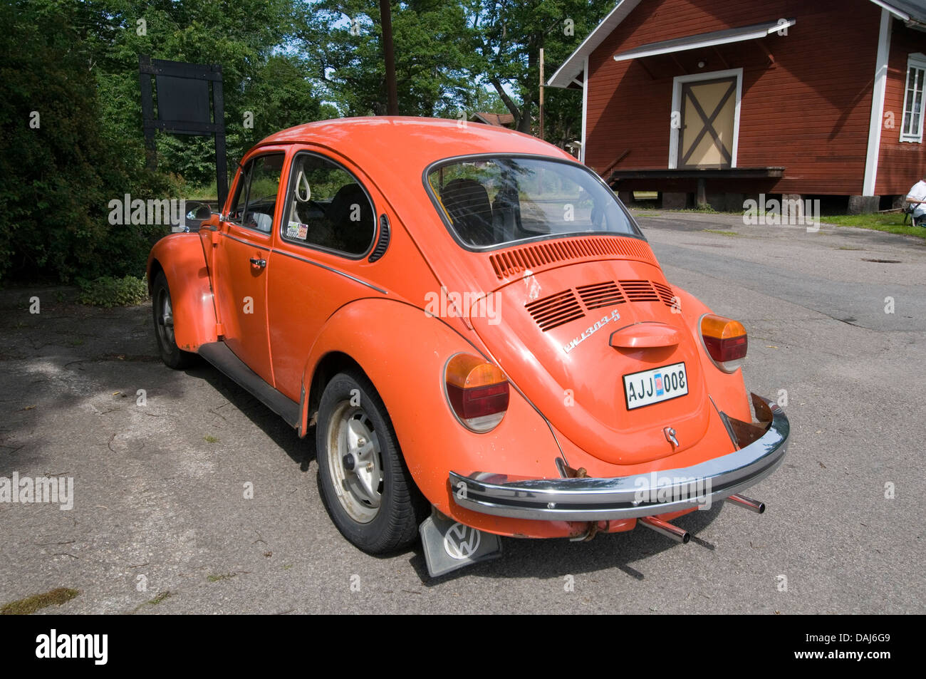 volkswagen VW beetle super superbeetle late model 1303 bug aircooled engine - Stock Image