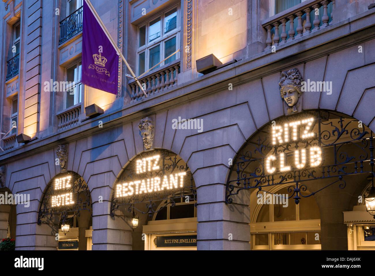 The Ritz London, London, United Kingdom. Architect: Charles Mewes & Arthur Davis, 1906. View of the Ritz Hotel, Stock Photo