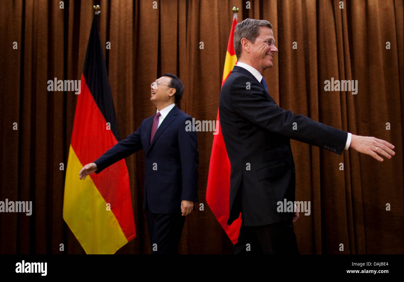 Chinese Foreign Minister Yang Jiechi L And His German Ministerial