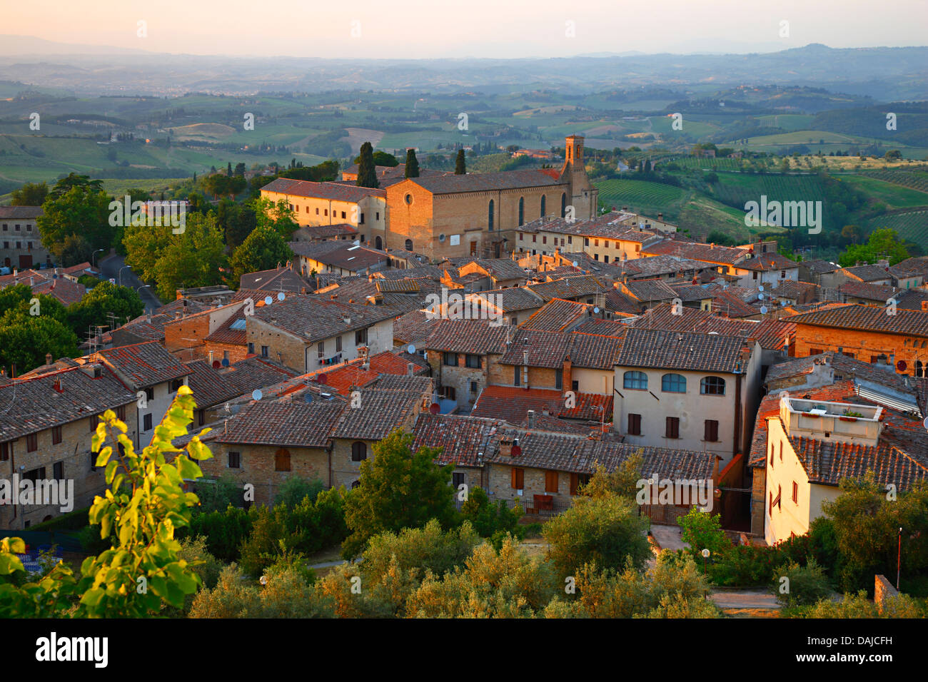 San Gimignano, Sant'Agostino church, Italy Stock Photo