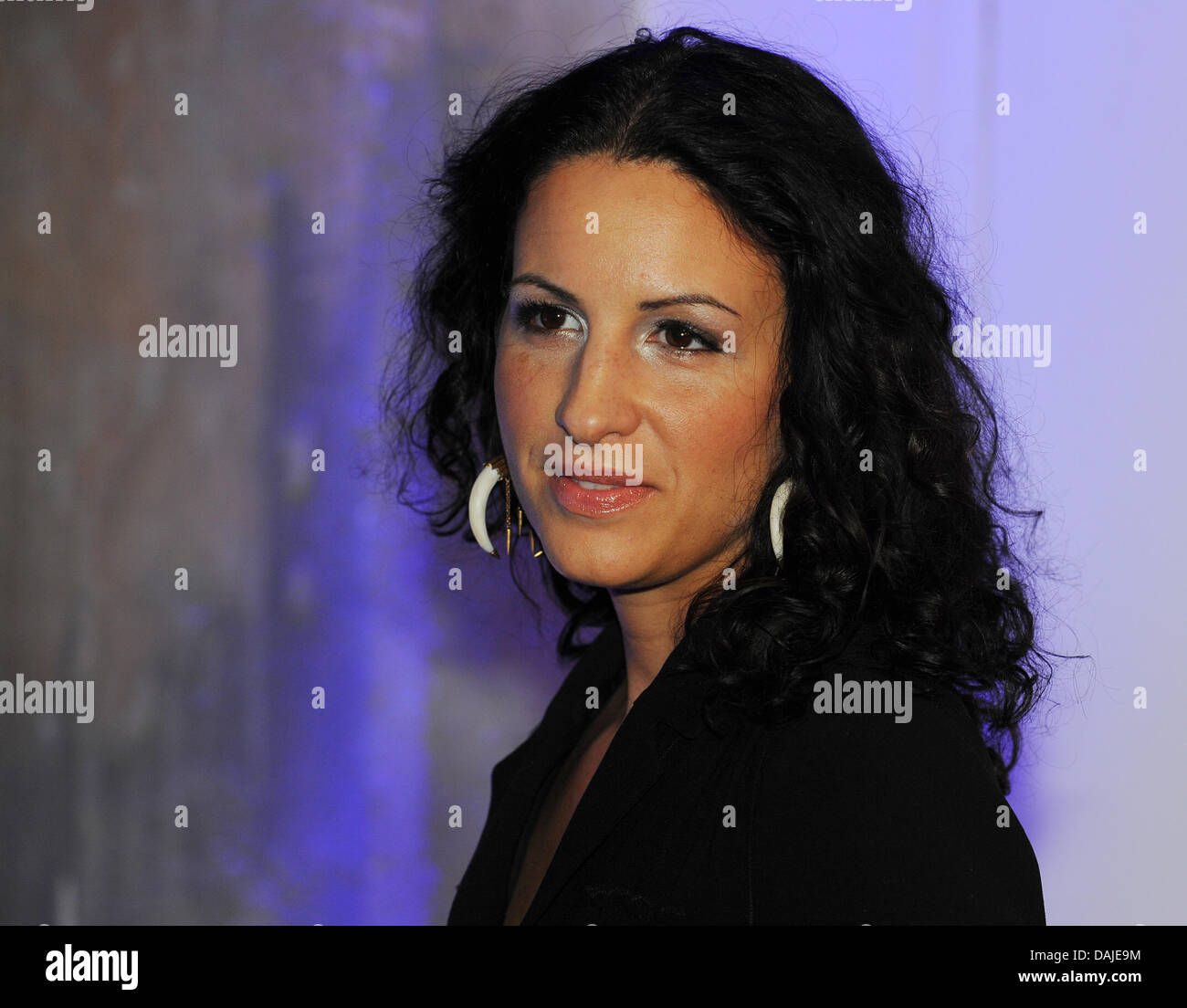 The producer  Minu Barati-Fischer arrives to the reception of TV-channel Sky in the Soho House in Berlin, Germany, - Stock Image