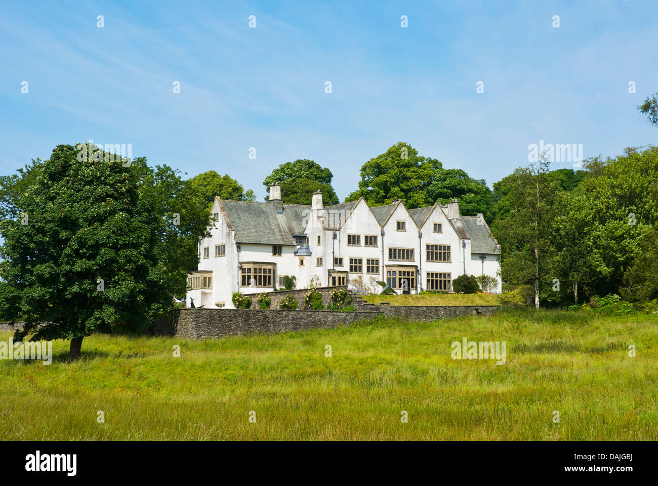 Blackwell, 'arts and crafts' house, overlooking Lake Windermere, near Bowness, Cumbria, England UK - Stock Image