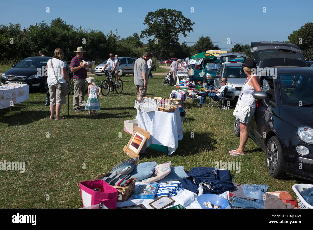 Greenhill Car Boot Sale Southwick Near Trowbridge Stock Photo