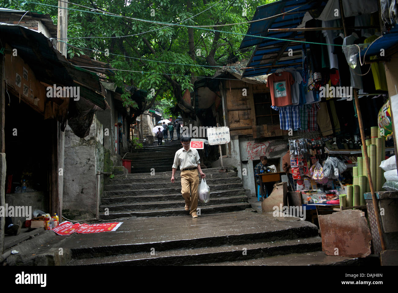 Old Shibati (The eighteen ladder) in central Chongqing, China. 09-May-2013 Stock Photo