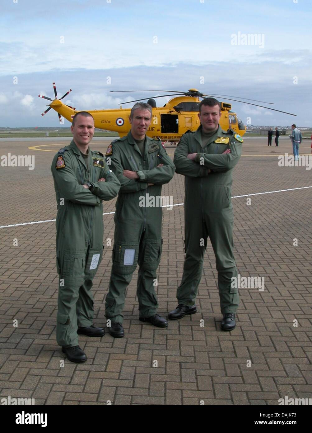 Sergeant Keith Best, Flight Lieutenant Thomas 'Sticky' Bunn and Squadron Leader 'Spike' Wright (Prince - Stock Image