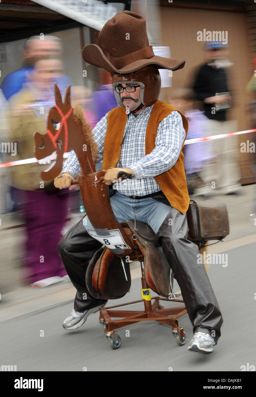 Unusual office chairs Exciting Cowboy Heiko Winter Races His Unusual Office Chair Down The Course At The 3rd German Championships Alamy Racing In An Office Chair Stock Photos Racing In An Office Chair