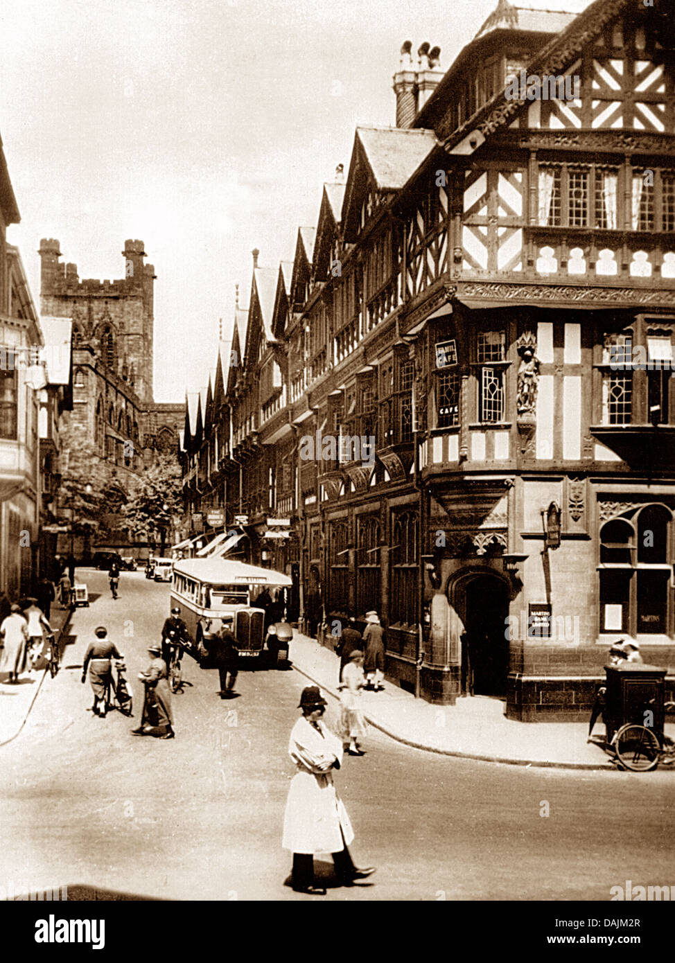 Chester probably 1930s - Stock Image