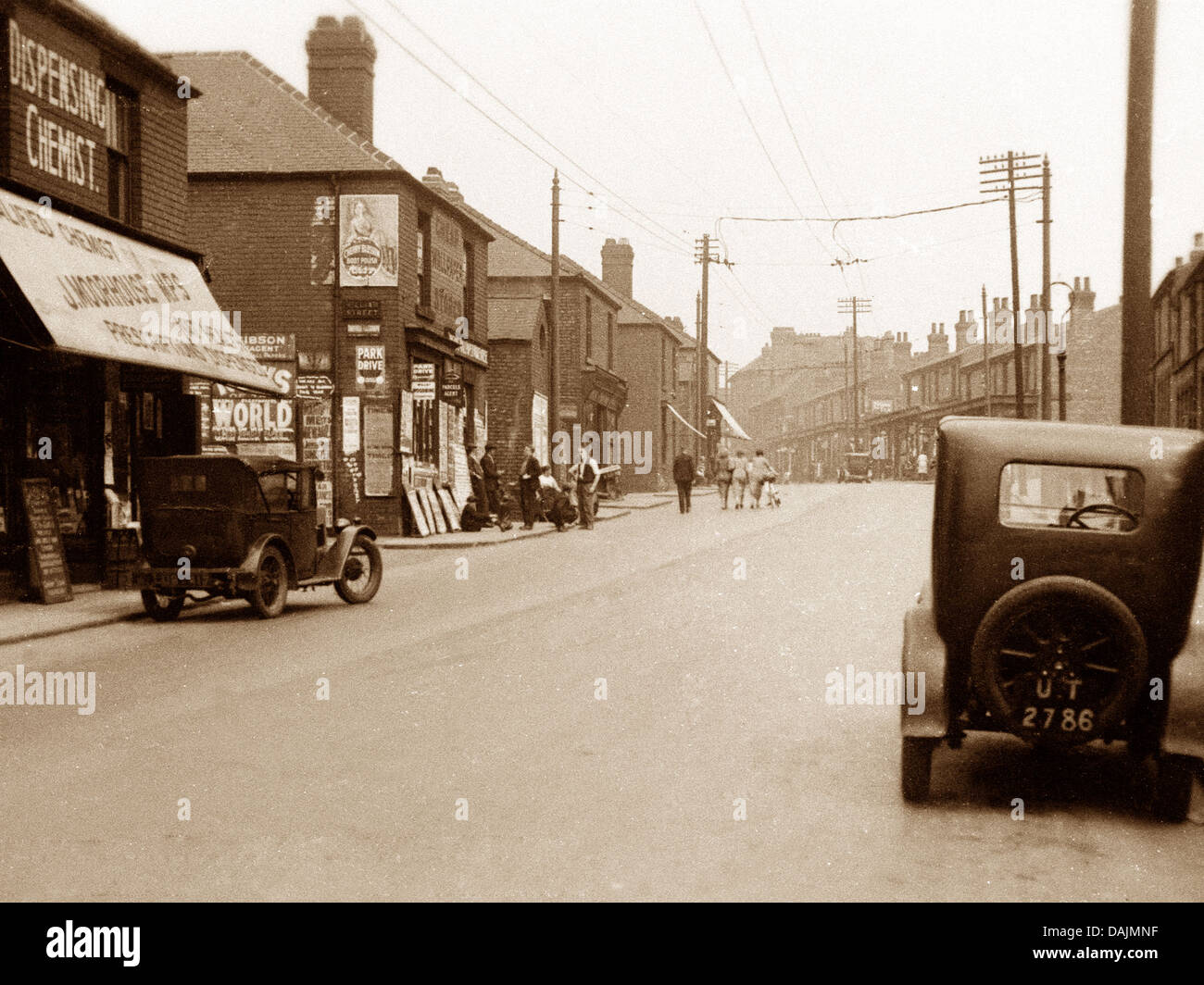 Denaby Doncaster Road probably 1930s - Stock Image