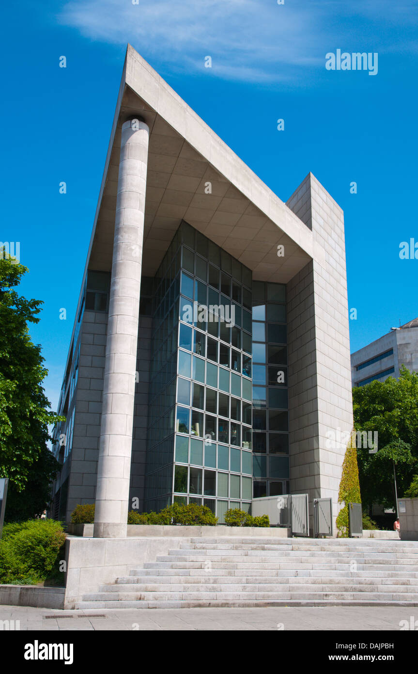 Civic Offices building in Wood Quay riverside street Dublin Ireland Europe - Stock Image