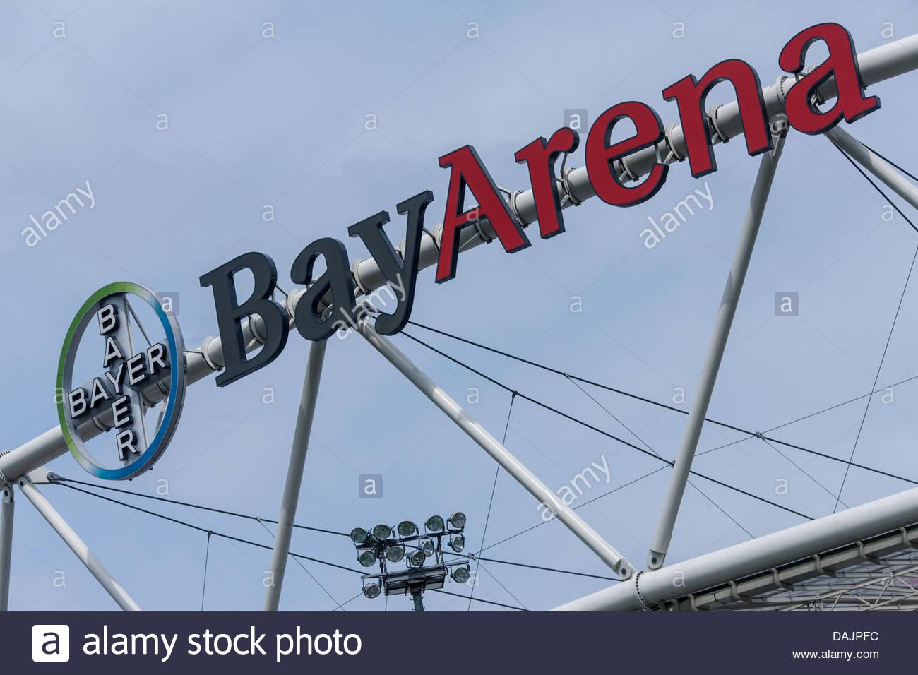 BayArena logo - Stock Image