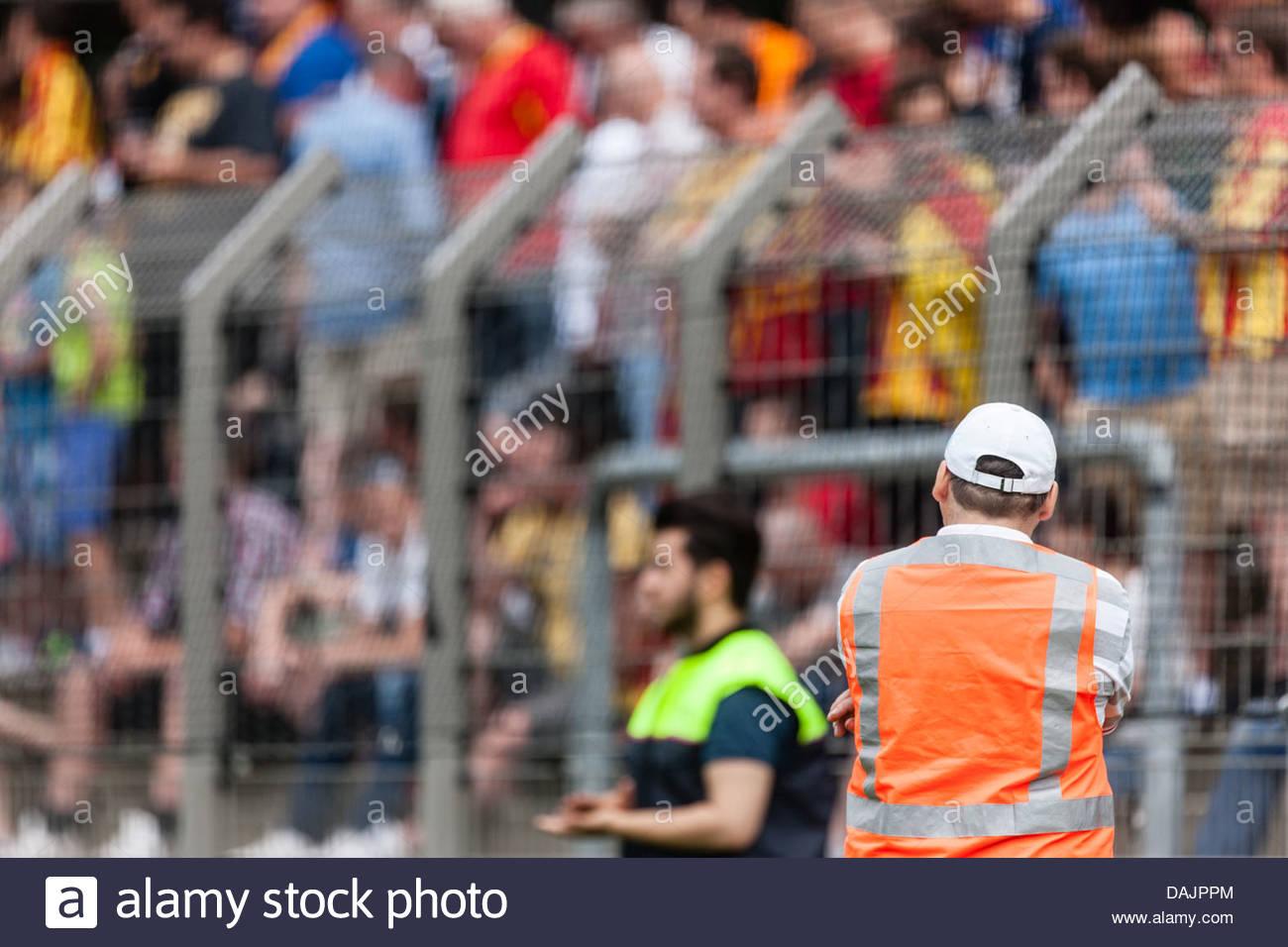 stewart in football stadium - Stock Image
