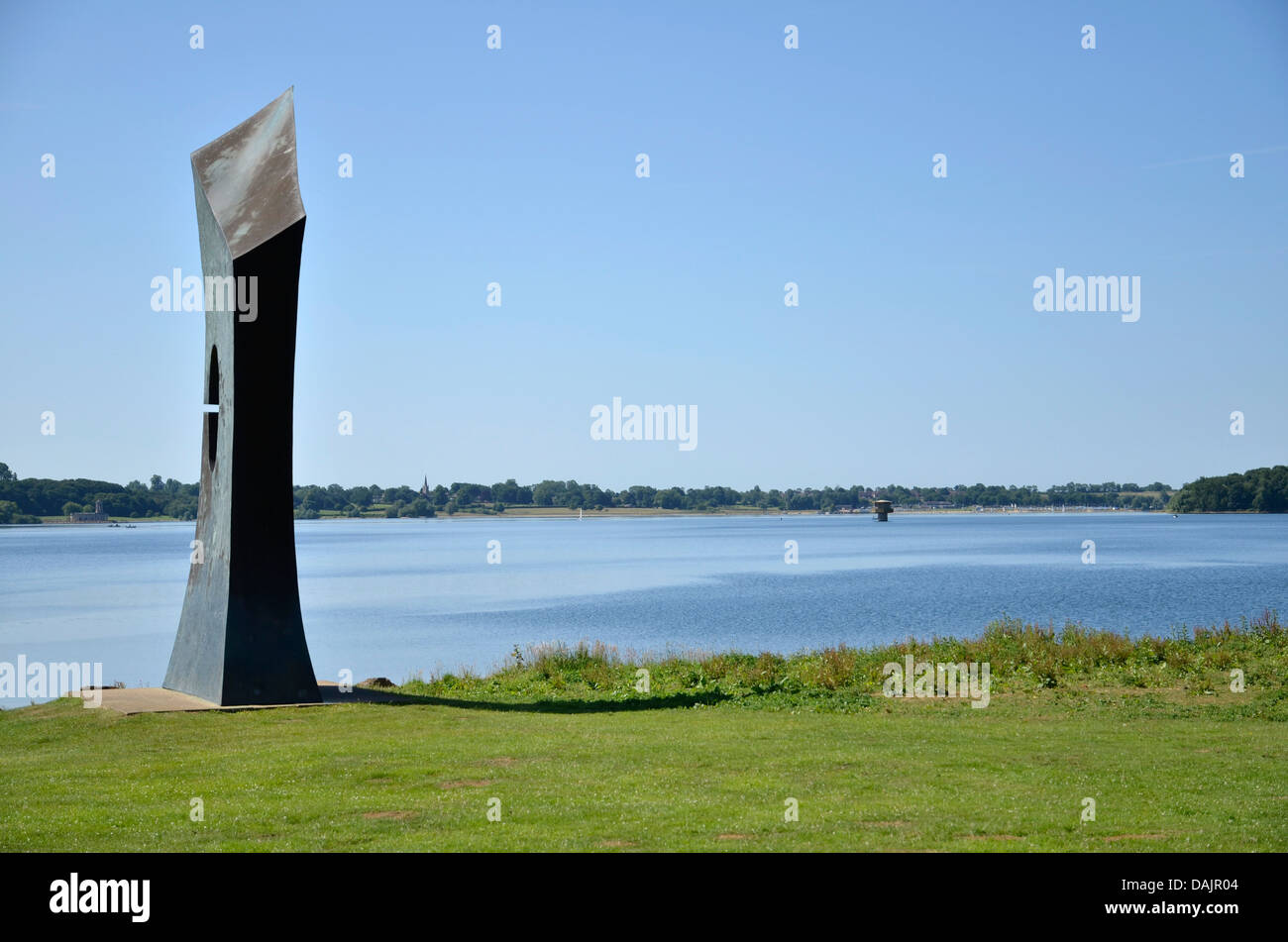 A Great Tower sculpture on the south eastern shore of Rutland Water in Rutland, Leicestershire - Stock Image