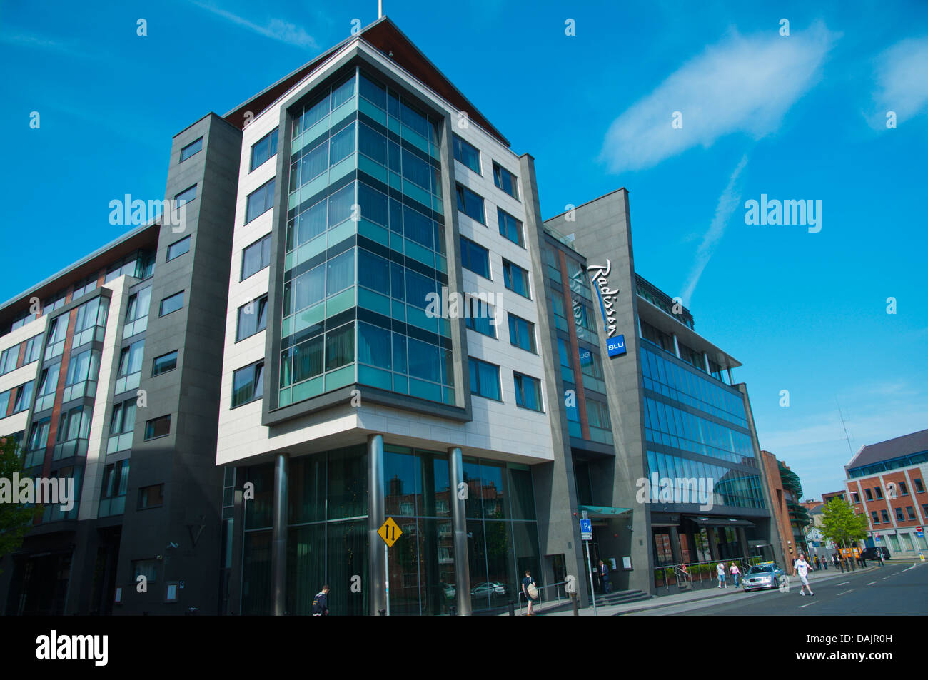 Radisson Blu hotel Medieval district central Dublin Ireland Europe - Stock Image
