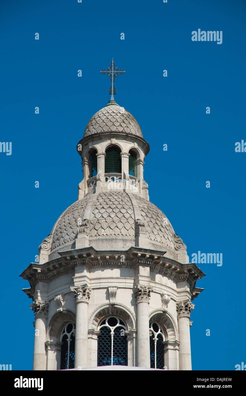 Campanile the clock tower Trinity college university area central Dublin Ireland Europe - Stock Image