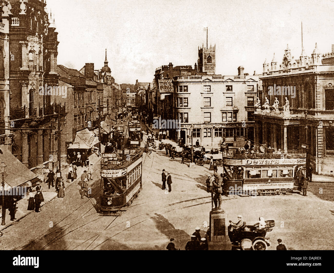 Ipswich Cornhill and Tavern Street early 1900s - Stock Image