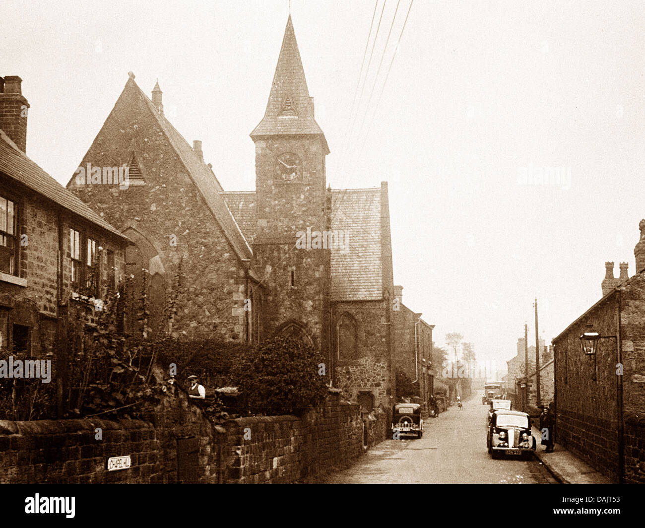 Whiston High Street probably 1930s - Stock Image