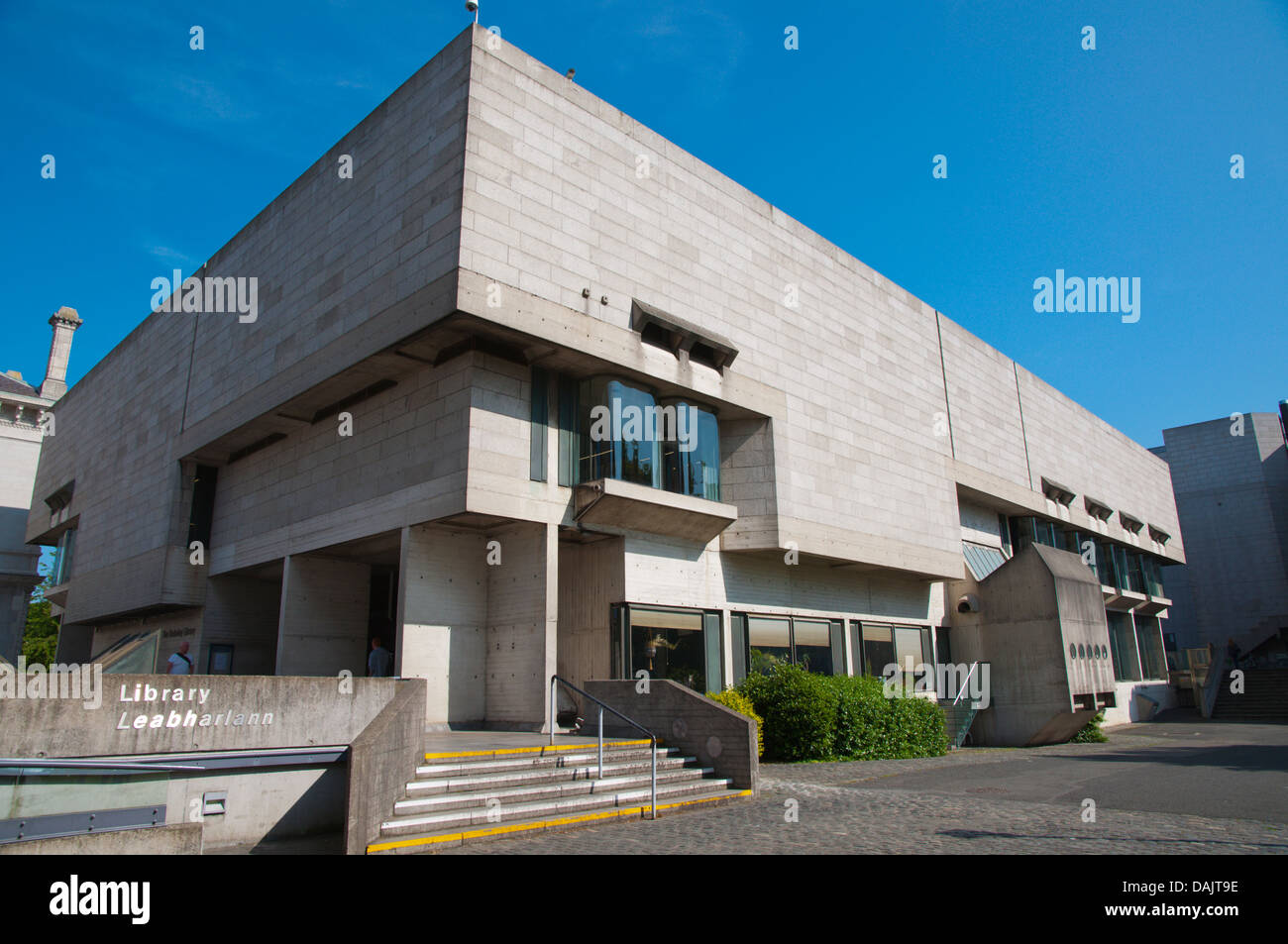 Brutalist style Berkeley Library building Trinity college university area central Dublin Ireland Europe - Stock Image