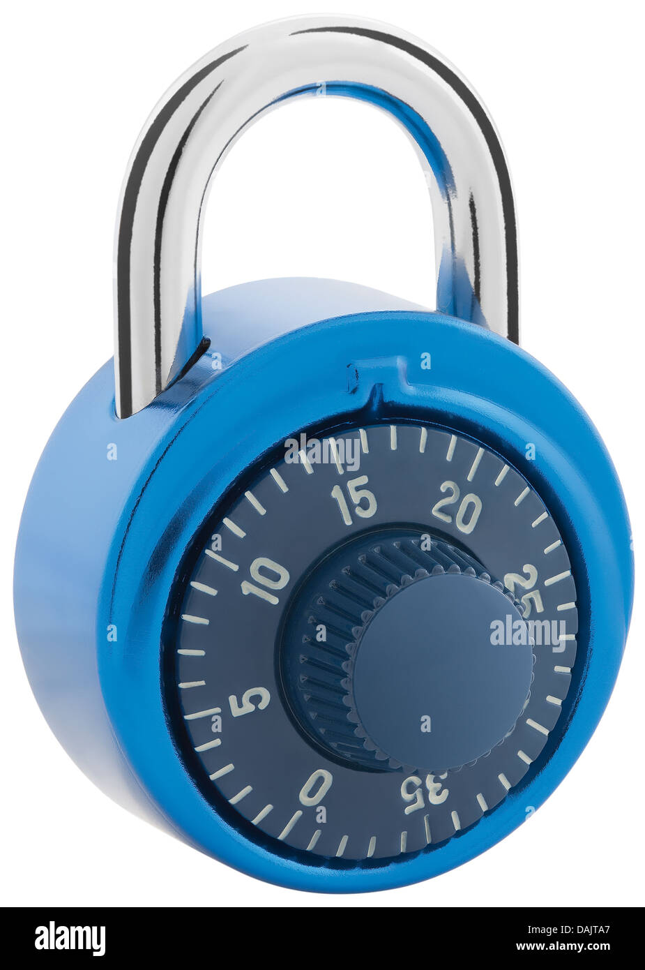 Combination lock on white background, close up - Stock Image