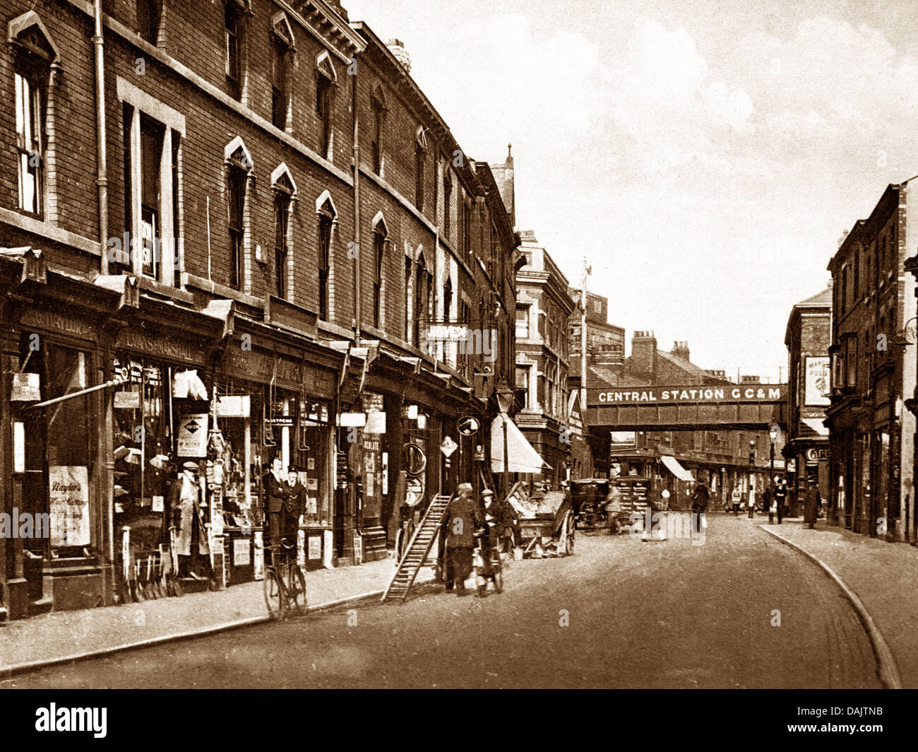 Widnes Victoria Road early 1900s - Stock Image