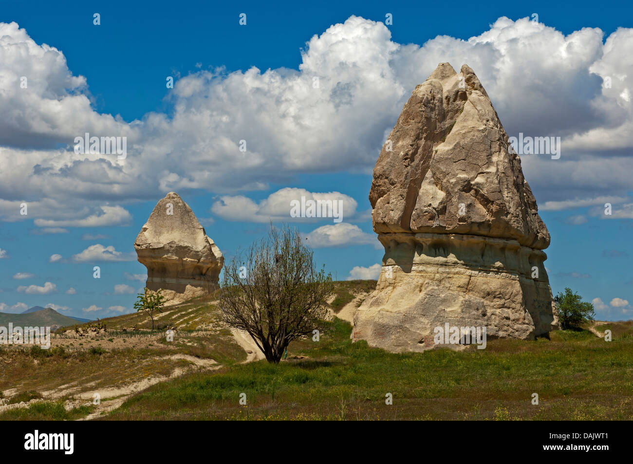 Tuff cones or fairy chimneys - Stock Image