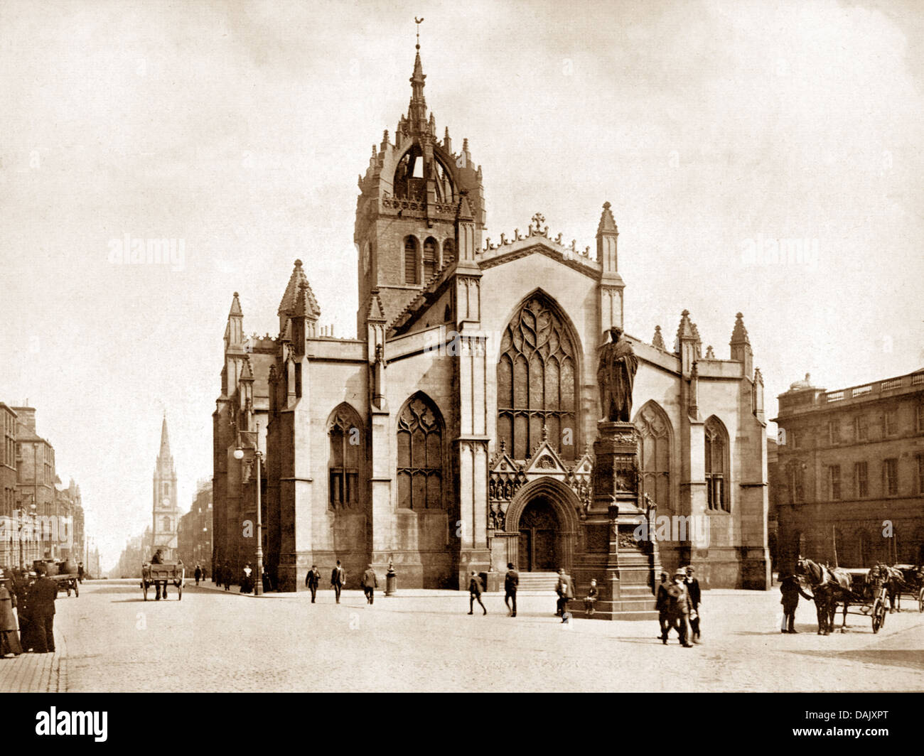 Edinburgh St. Giles Cathedral Victorian period - Stock Image