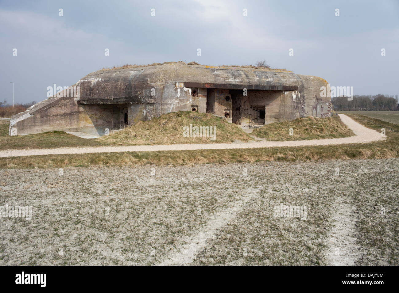 Normandy DDay German bunkers in Normandy France