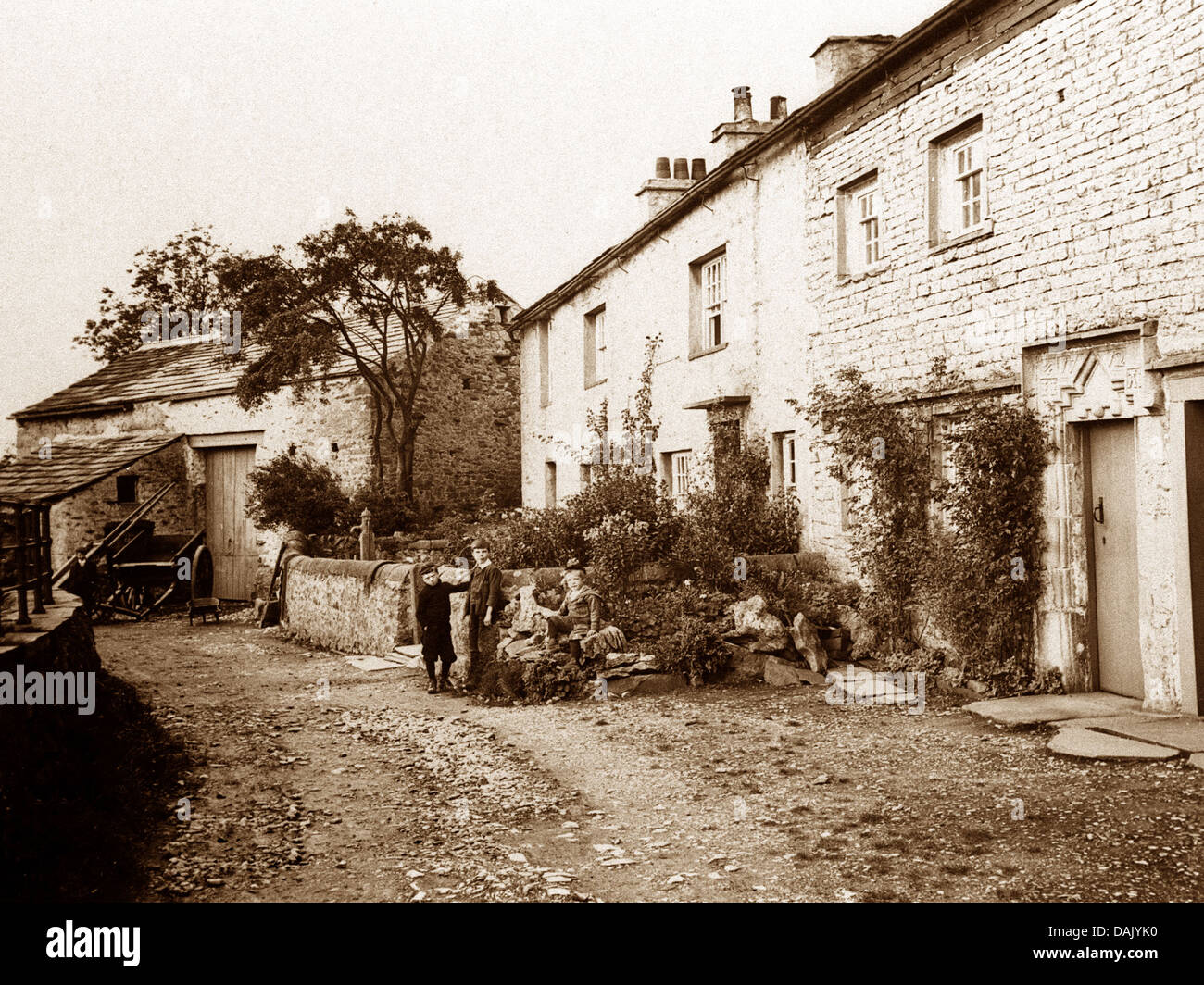 Austwick early 1900s - Stock Image