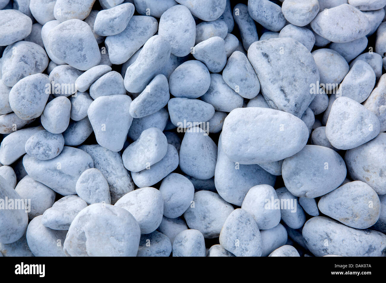 Carrara marble gravel, pebbles - Stock Image