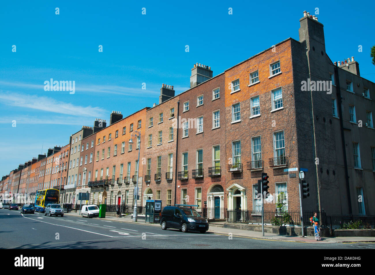 Merrion Square central Dublin Ireland Europe - Stock Image
