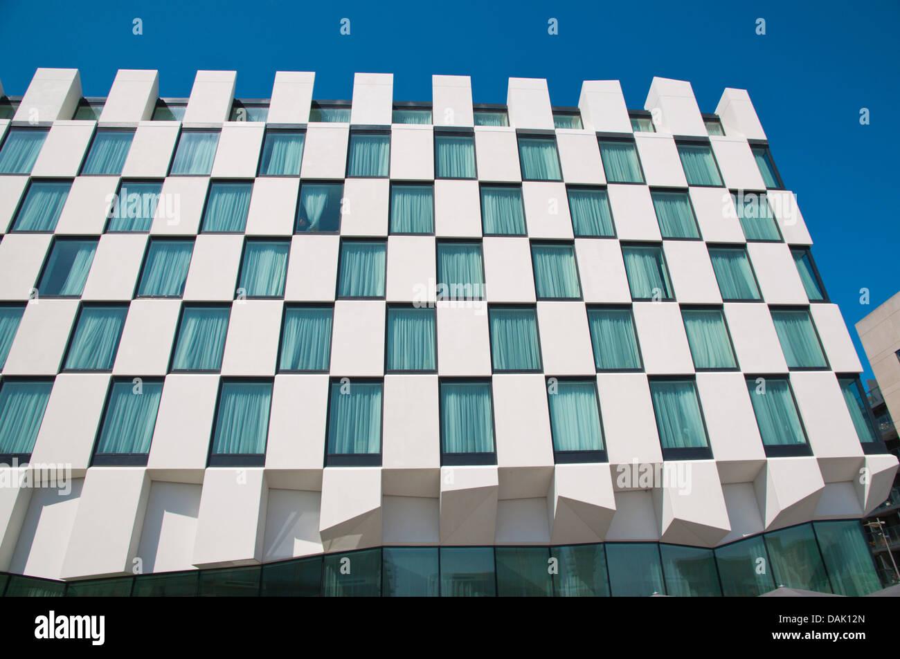 The Marker building Docklands former harbour area central Dublin Ireland Europe - Stock Image