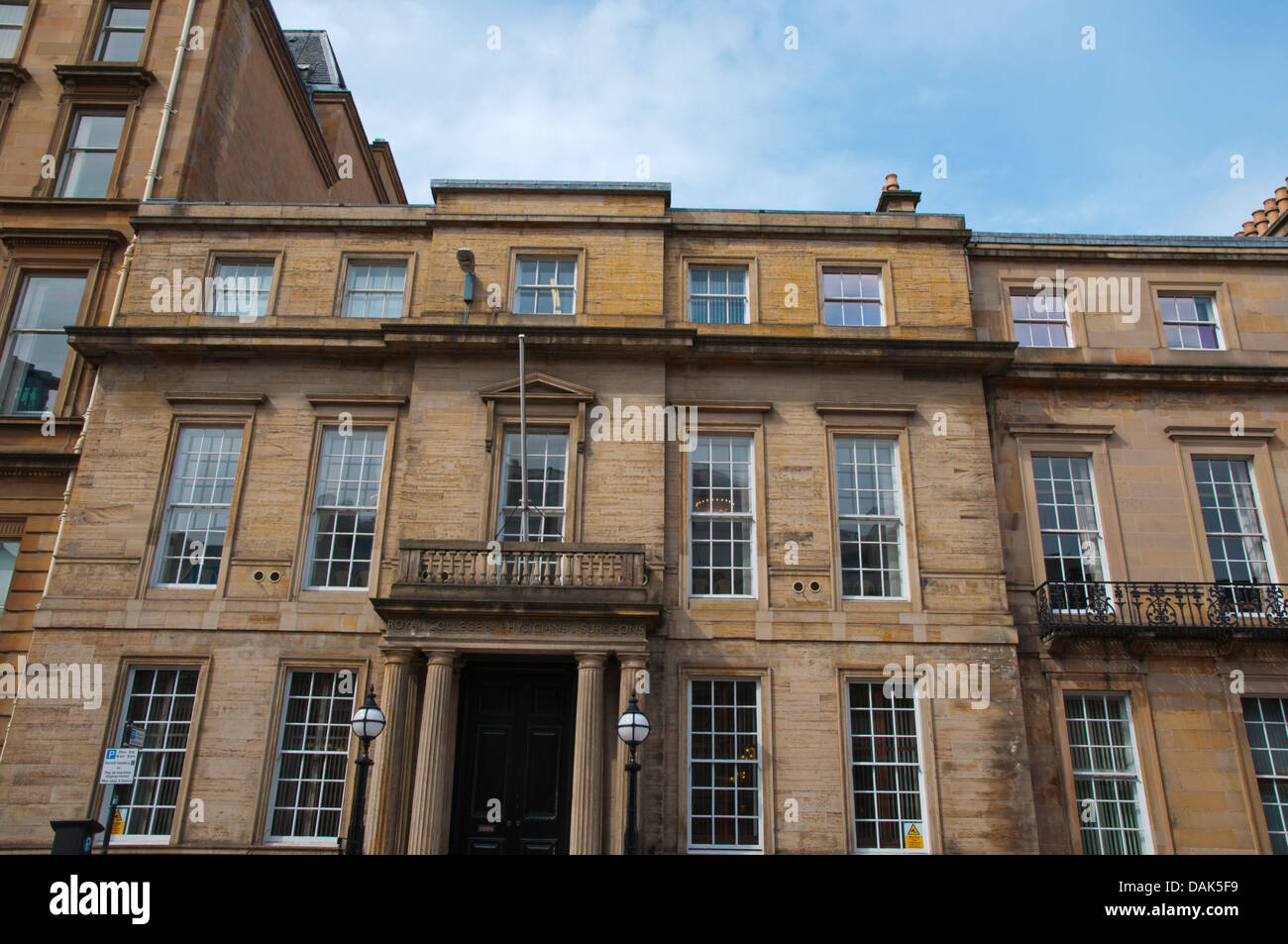 Royal college of physicians and surgeons Vincent street central Glasgow Scotland Britain UK Europe - Stock Image