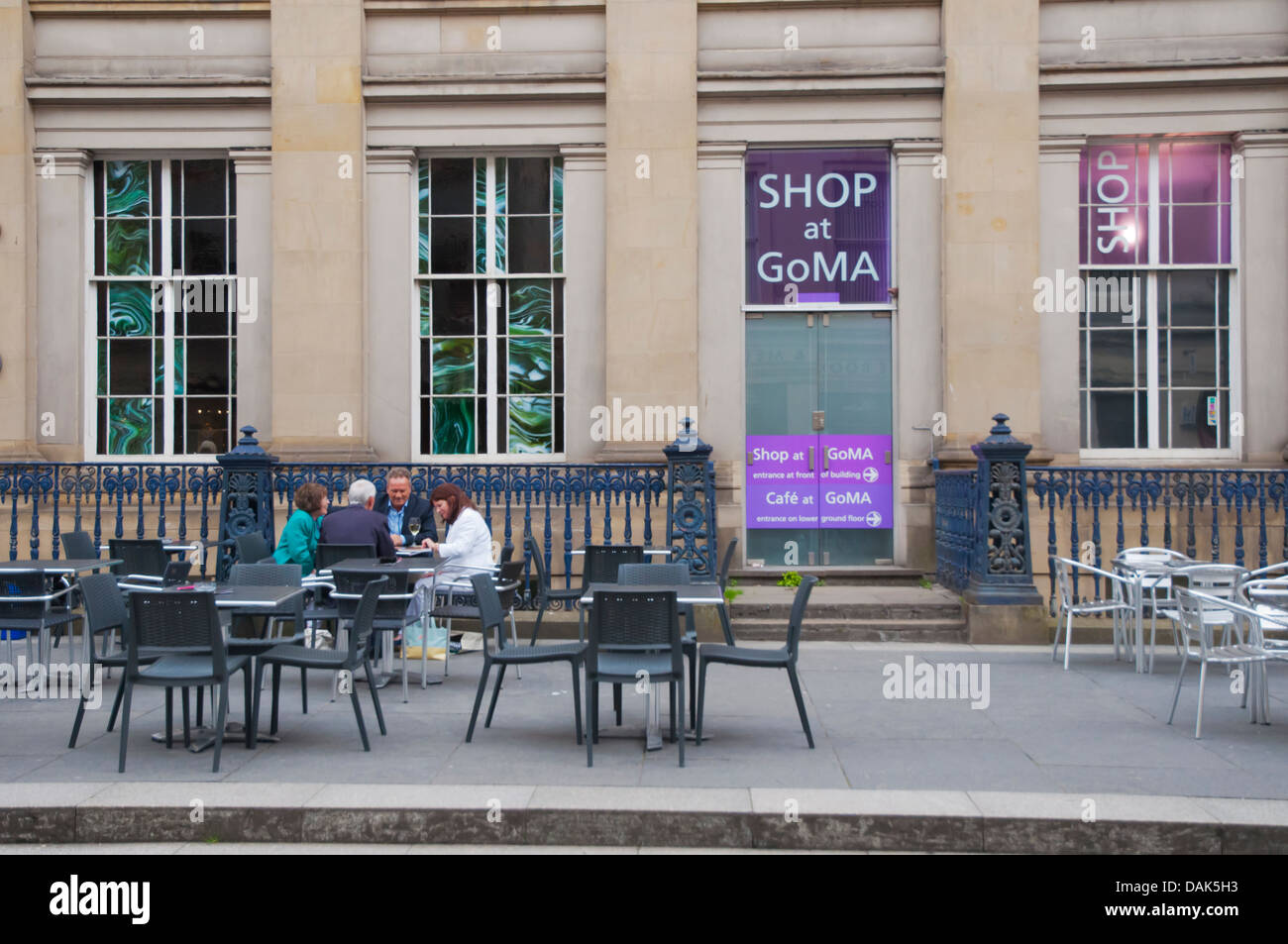 Restaurant terrace Merchant city central Glasgow Scotland Britain UK Europe - Stock Image