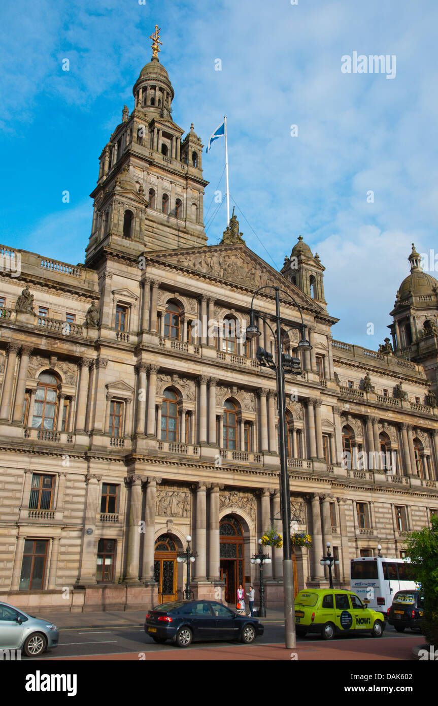 Victorian era Glasgow City Chambers town hall (1888) George Square central Glasgow Scotland Britain UK Europe - Stock Image