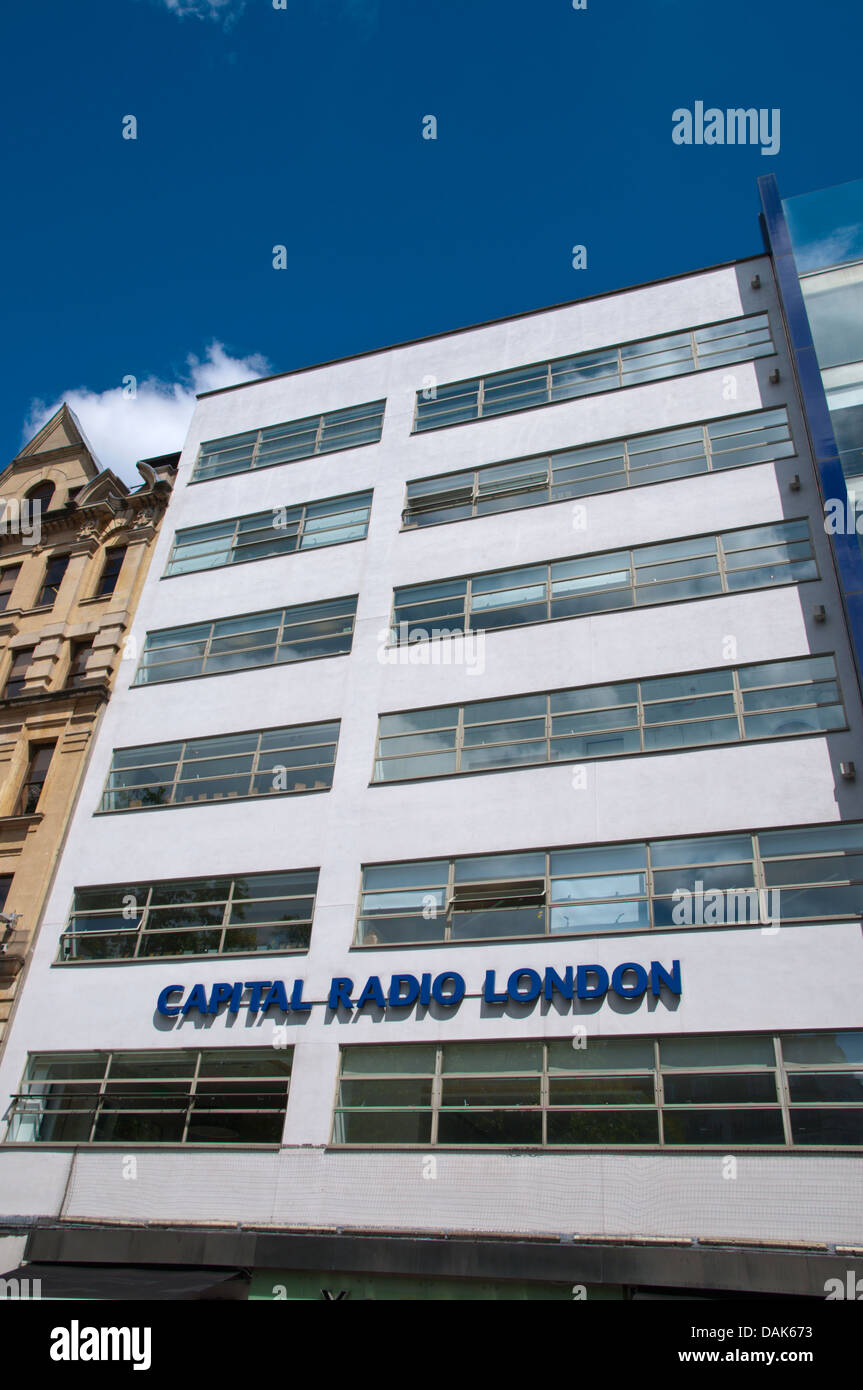 Capital Radio London building Leicester Square central London England Britain UK Europe - Stock Image