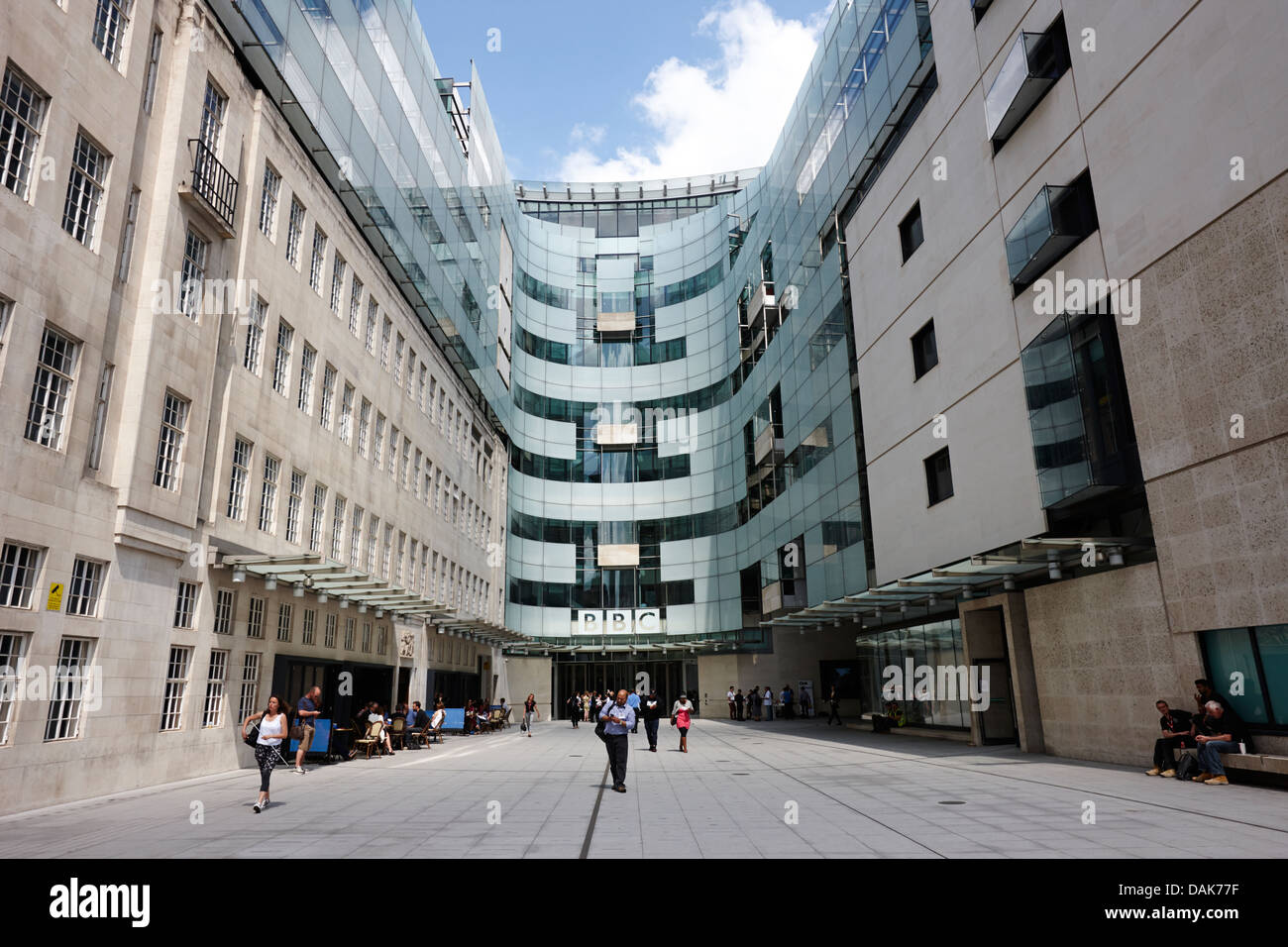 new bbc broadcasting house london, england uk - Stock Image