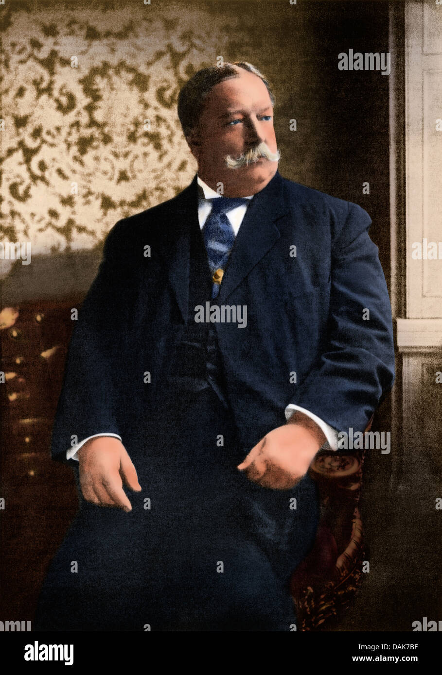 President-elect William Howard Taft in 1908. Digitally colored halftone of an illustration - Stock Image
