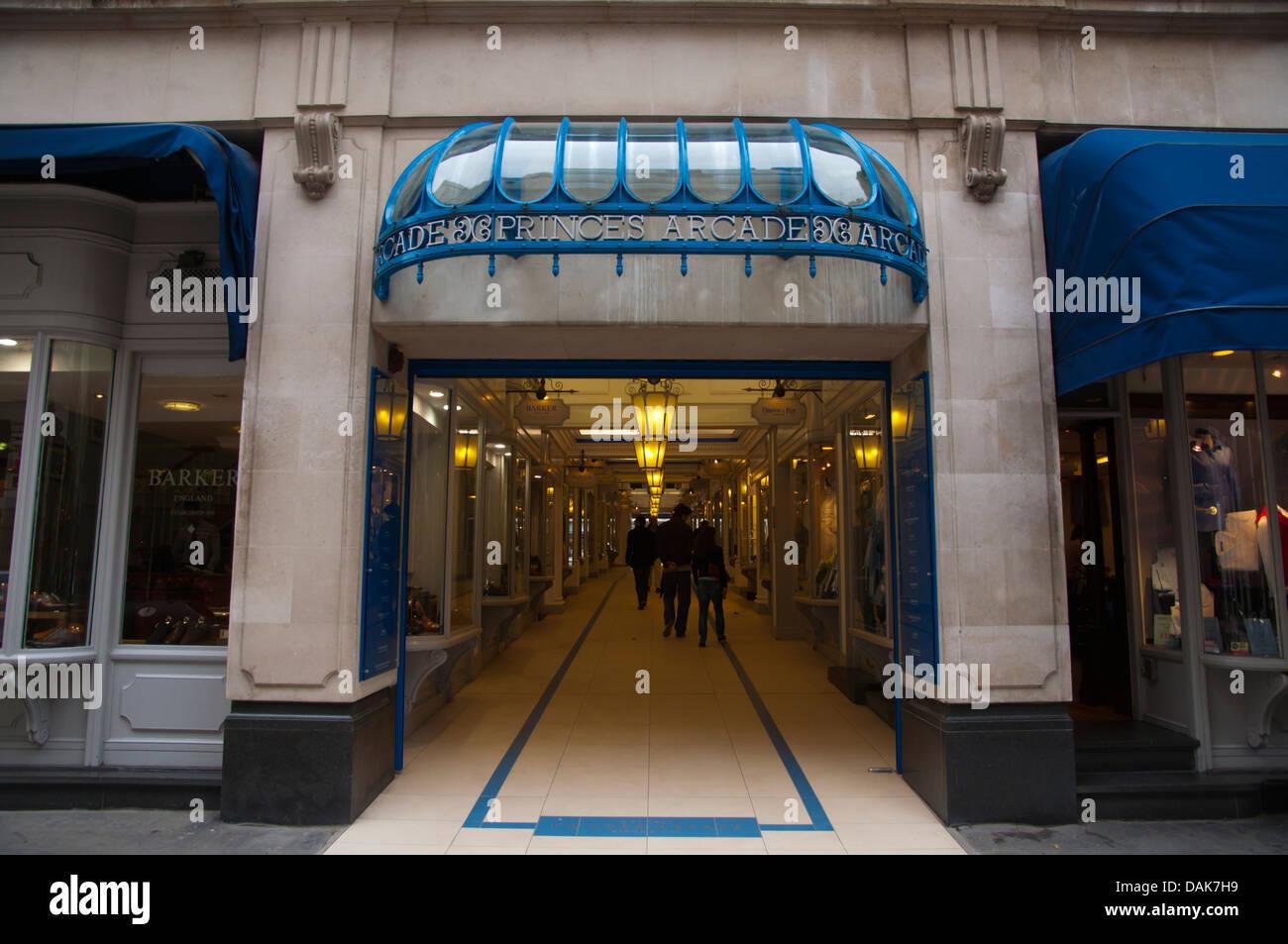 Princes Arcade shopping centre Jermyn Street St James district London England Britain UK Europe - Stock Image