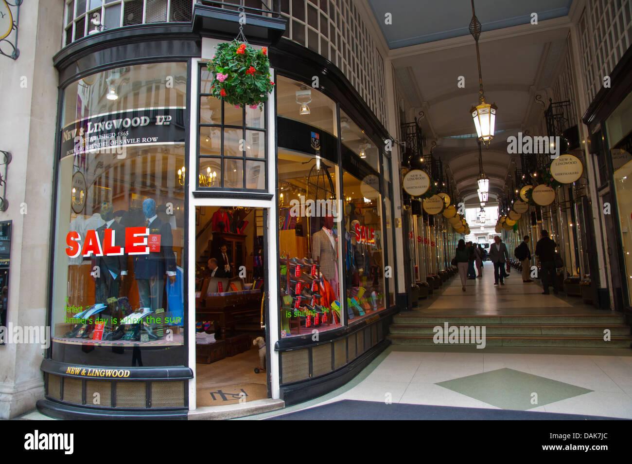 Piccadilly Arcade in Jermyn Street Mayfair district London England Britain UK Europe - Stock Image